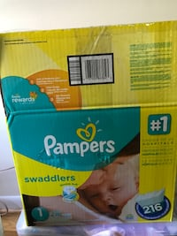 Approx. 110 size 1 Pampers Swaddlers diapers Bethesda, 20814