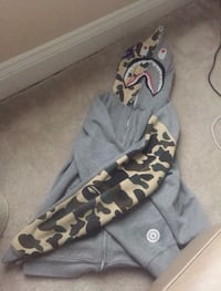 "(Grey/ Camo)""WORLD GONE MAD"" A Bathing Ape Jackets 100% Authentic  Rockville, 20852"