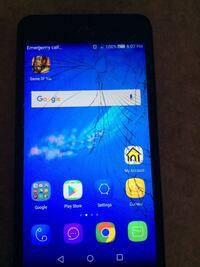 Cracked android smartphone Cambridge