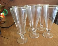 1950' Vintage  Pilsner glasses. STOUGHTON