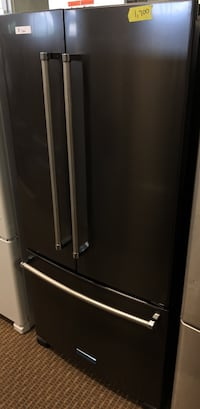 Kitchenaid black stainless French door. Water and ice inside with factory warranty  Houston, 77037