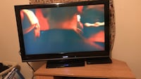 black Sony flat screen TV