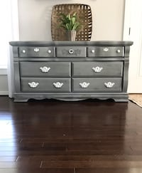 Gray Antiqued Dresser - Solid Wood Moseley, 23120