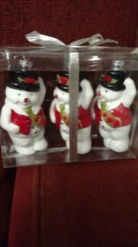 Package of three (3) Snowmen Christmas Ornaments