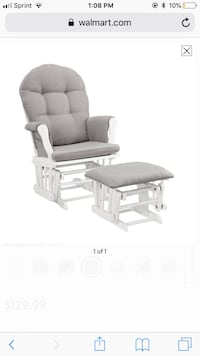 gray fabric padded glider chair Tulsa, 74115