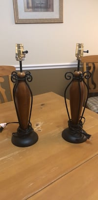 black and brown table lamp Fairfax, 22033