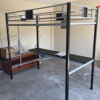New Open Box SilverScreen Metal Loft Twin Bunk with Desk (some scratches and dents from shipping) Killeen, 76542