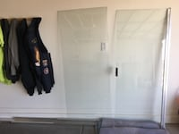 Brand new shower glass door and panel from new house SANTANVALLEY