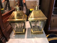 "Exterior Georgian brass lights 8""x8""x15""high Toronto, M4T 3B3"