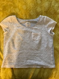 Hollister T shirt with lace in the front  Burnaby, V5H 1Z9