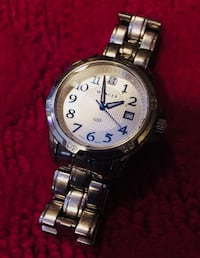 round silver-colored analog watch with link bracelet Gilbert, 85233
