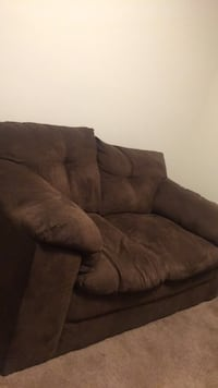 brown suede 3-seat sofa Hyattsville, 20785