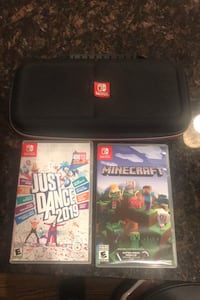 Nintendo switch games and case Manassas, 20109