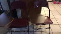 Heavy duty metal chair with flip out table Calgary, T2Y