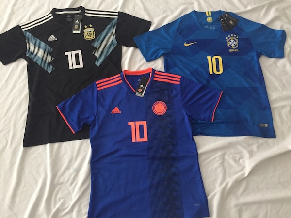 d68db27b2 Used Brand new! Adidas & Nike Brazil,Argentina,Colombia Jerseys SIZE LARGE  $35 EACH for sale in Orlando - letgo