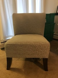 cushioned fabric chair