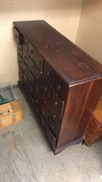 Brown wooden multi-layer dresser
