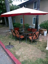 red and black patio set Austell