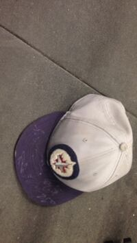 White and purple heart print cap Winnipeg, R2K 3Z9