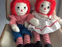 Raggedy and Andy dolls $15 for the pair