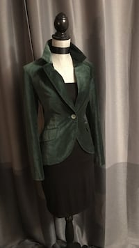 Ladies Green crushed velvet blazer  Edmonton, T6K 3K2