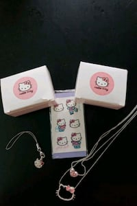 Hello kitty charm,necklace,stickers with boxes. Alexandria, 22308