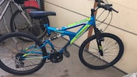 blue and black full suspension mountain bike Vaughan, L4H 0Y4