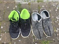 Adidas neon running shoes and yeezys turtlesdoves Richmond, V6X 1A4