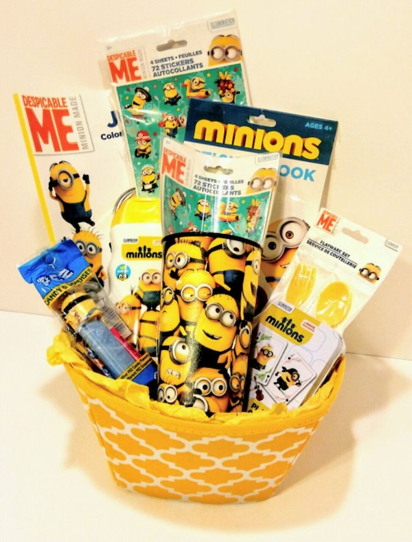 Minions theme Easter Gift Basket