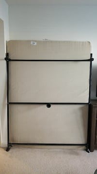 Clean Queen size mattress, frame and box Spring.