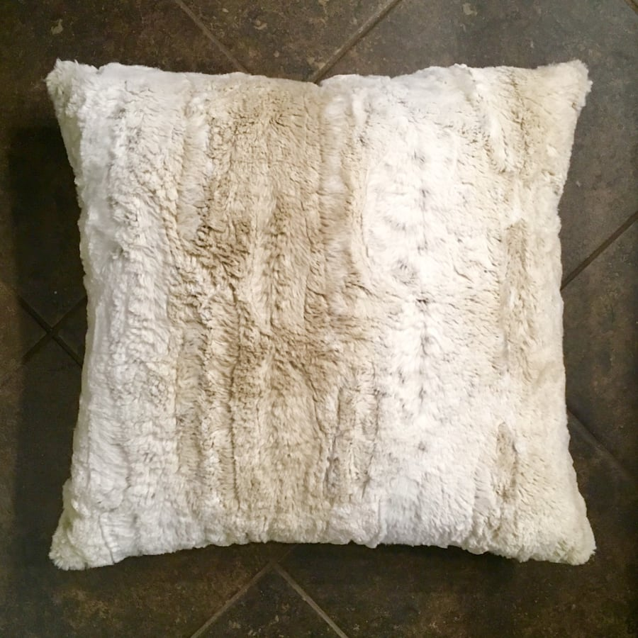 Pier 1 Faux Fur Pillow
