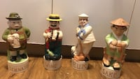 four Schnppe, Wine, Rum, and Sake ceramic figurine Victoria, V8Z 1H7