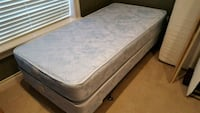 Twin bed mattress and box springs with frame College Station