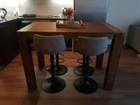 4 Faux Gray Leather Bar Stools