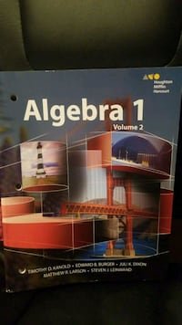 Houghton Mifflin Harcoury ALGEBRA 1 TEXTBOOK (2 Available) Brentwood, 37027