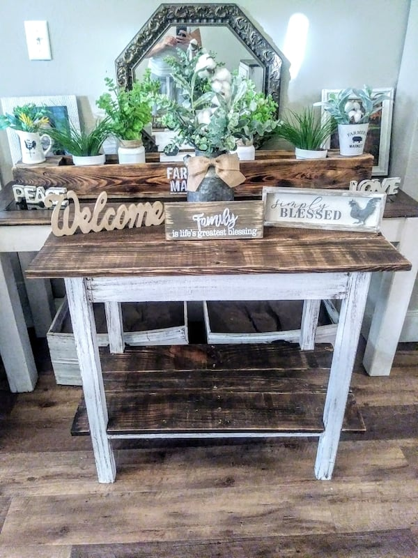 Rustic Farmhouse Entry Table d33f642f-6f9e-428a-94c7-eb08efc5116e