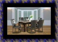 5pc dining table set with 4 chairs Adelphi