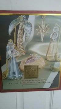 For the Holidays Nativity ornament 5-piece set box