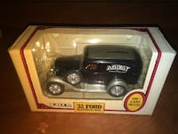 Brand new unopened box 1/25 scale A-58 Ertl Diecast Bank 1932 Ford Panel Truck Agway Black #9687 TROY
