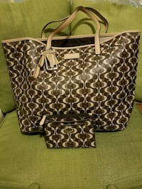 NWOT! Large Coach Tote and Wallet Monogram Set! Frederick