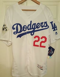 New Large Dodgers Kershaw World Series Jersey