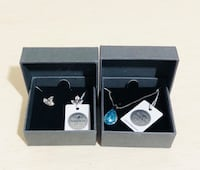 Brand New Genuine Necklace and Earrings By Nic & SYD / Swarovski Milton, L9T 4H8