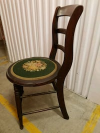 Antique side chair with needlepoint seat 70 km
