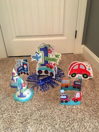 1st Birthday Party Supplies trains and cars Grant, 35747
