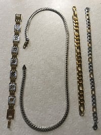 Gold/silver bracelet and chain