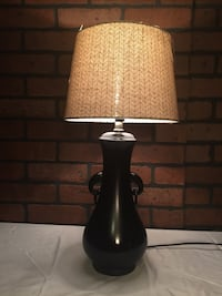 Black  table lamp with new lampshade. American Fork, 84003