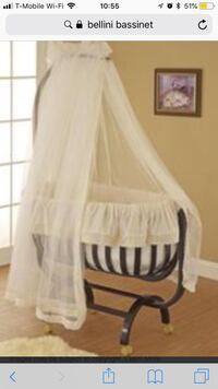 Bellini Bassinet gently used - I bought it used myself but didn't have a chance to use it. They were discontinued and are no longer available, they were around $1000. Bedding is included with a mattress, the canopy pole comes with it but the canopy itself Silver Spring, 20902