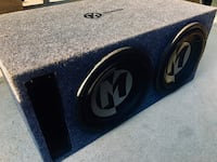 Memphis 12 in Dual Voice Coil Subs / Memphis Box tuned at 32HZ Sanger, 93657