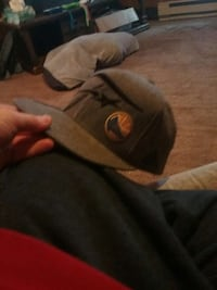 gray fitted cap