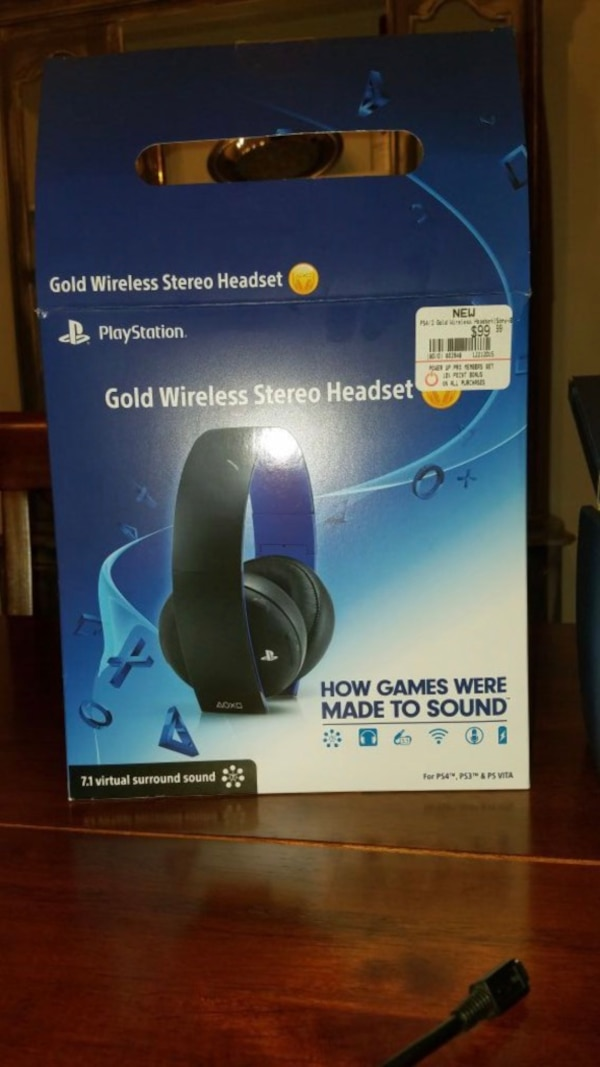 PS4 gold wireless stereo headset! NEW!